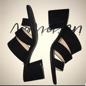Shoes - H&M black Mule block heels
